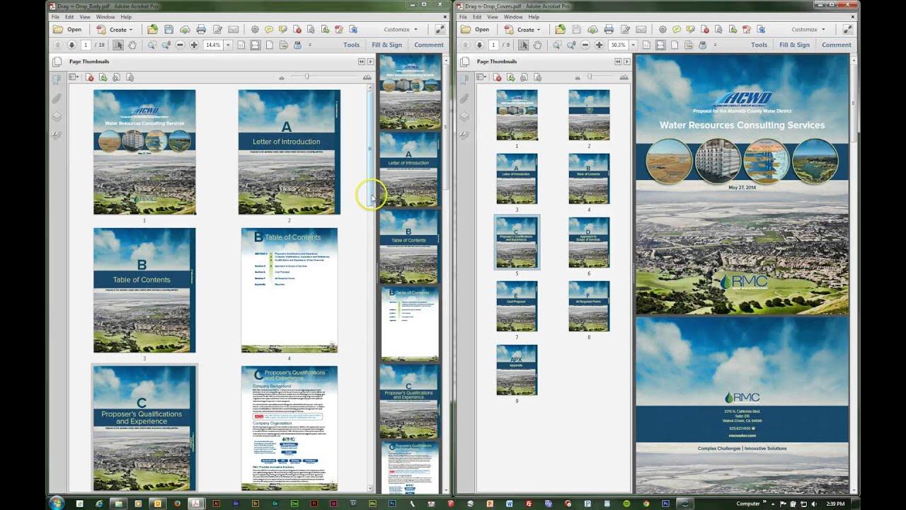 rearrange pdf pages adobe acrobat