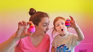EGGMAZING Dinosaur Easter Egg Decorating with mystery guest Mom