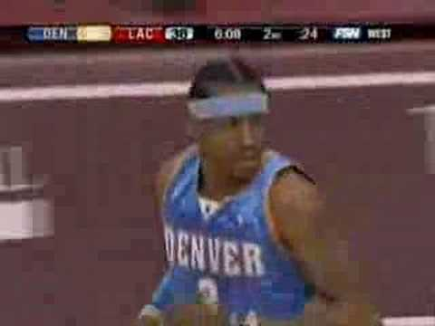 Allen Iverson 21pts vs Elton Brand LA Clippers NBA 07/08