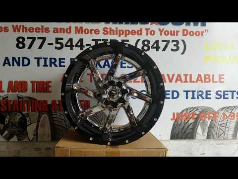 877-544-8473 22x12 Fuel Renegade D263 Chrome Black Wheels Hummer H2 Jeep