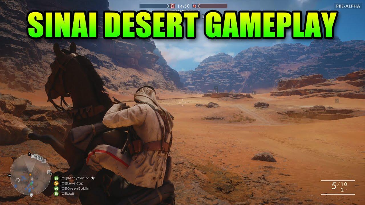 Battlefield 1 - Sinai Desert 1 Hour Raw Gameplay - New Guns!
