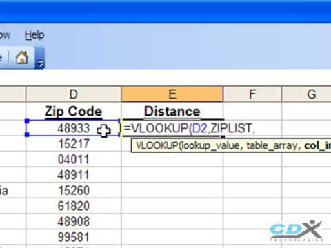 Find Zip Codes in a Radius using Excel - YouTube