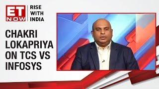 Chakri Lokapriya, MD of TCG AMC compares TCS & Infosys' margin bands
