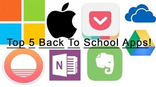 Top 5 Back To School Apps!