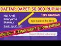Gambar cover Daftar akun 50.000 rupiah | Undang teman 50.000 | Jangan dituyul | Aplikasi penghasil Uang Terbaru