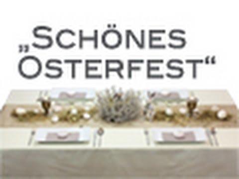 Tischdeko Box Schones Osterfest Youtube