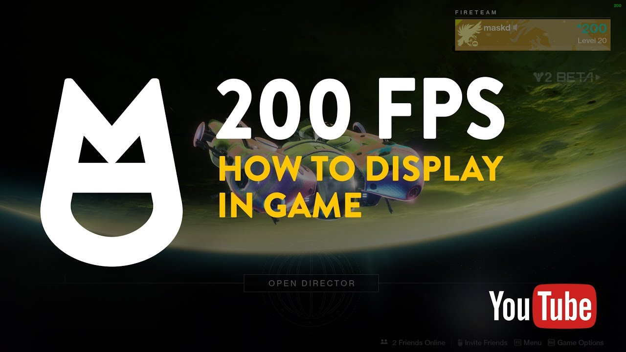 Destiny 2 - How to display the Frames Per Second in game - YouTube