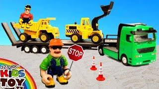 Construction Vehicles and Car Carrier Trucks, Dump Truck, Excavator.