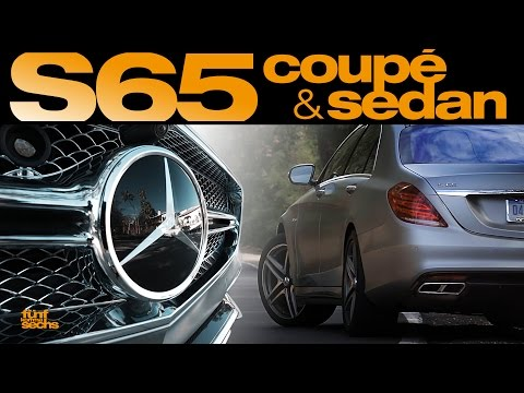 AMG Flagships: Mercedes S65 Coupé and Sedan Test Drive in California (German)