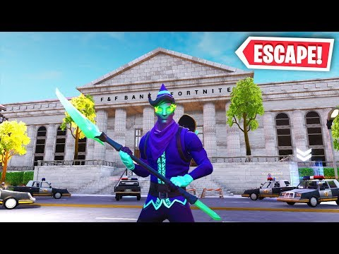Fortnite - ESCAPE The BANK Vault Or LOSE $10,000 (Fortnite Creative Mode)