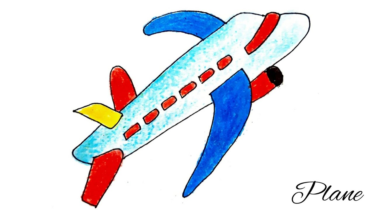 How to draw Easy Aeroplane drawing for kids | Airplane ...