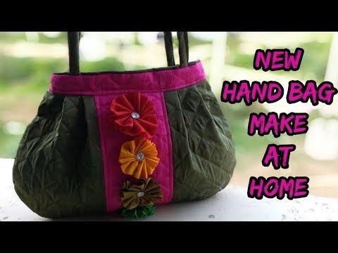 Handbag new stylish make at home/cutting and sewing/how to make hand bag at home/ 2018