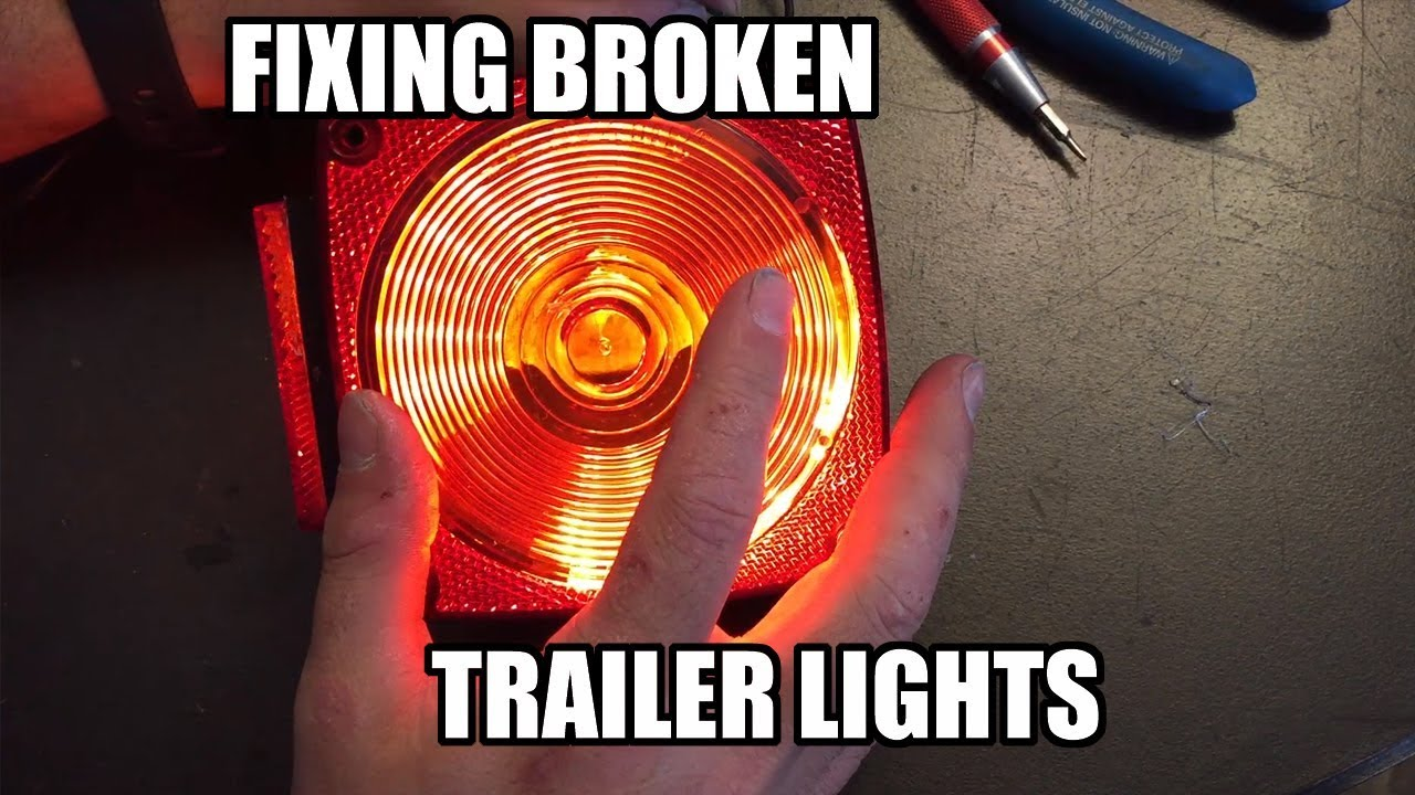 Installing trailer lights & LED waterproof conversion - YouTube