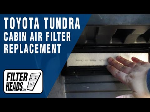 How To Replace Cabin Air Filter Toyota Tundra Youtube