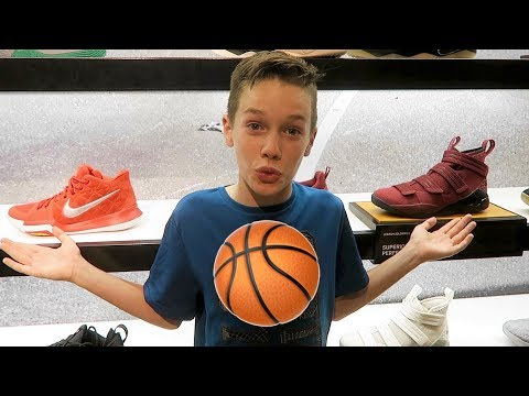 New Basketball Shoe Shopping 2018! Which Shoes Will He Get? 🏀👟