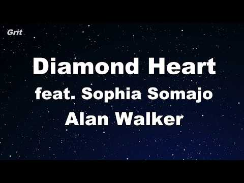 Diamond Heart Feat. Sophia Somajo - Alan Walker Karaoke 【No Guide Melody】 Instrumental