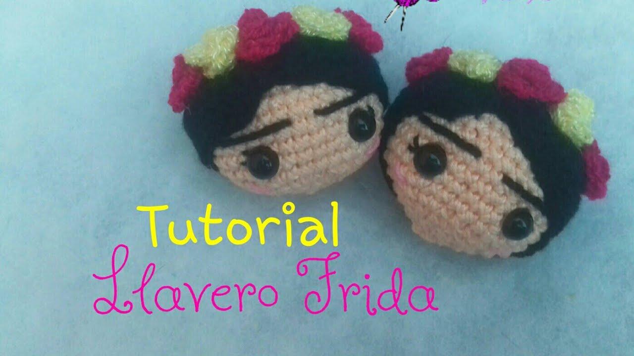Amigurumi Frida Kahlo : Llavero de frida khalo amigurumi youtube