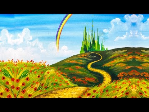 Emerald City Step by Step Acrylic Painting on Canvas for Beginners