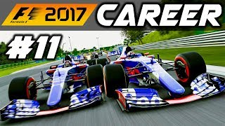 F1 2017 Career Mode Part 11: DISASTER MISTAKE AT HUNGARY