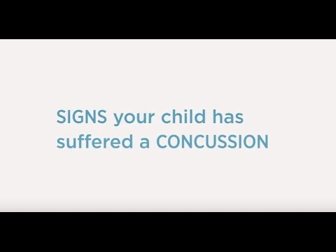 Signs Your Child Has Suffered a Concussion