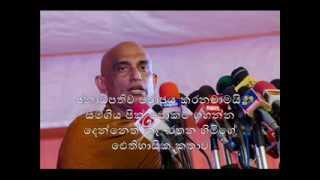 Athuraliye Rathana Thero at historical Janarella Meeting 12th Nov 2014
