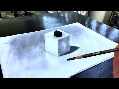 Comment dessiner un cube en 3 dimensions qui a l'air réel