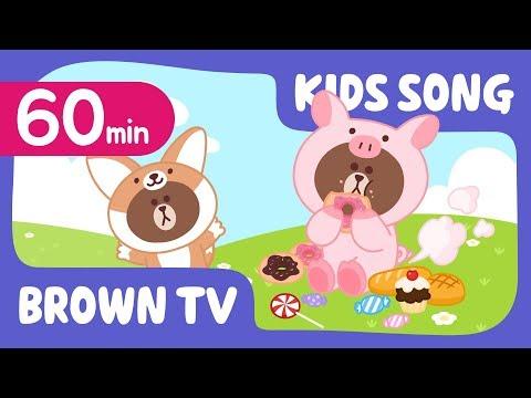 [Brown TV] Super Simple KIDS SONG   60min   Line Friends Kids Songs