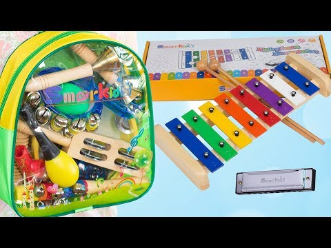 Opening Smarkids Toddler Toys Musical Instruments 🎼 Xylophone & Percussion Set