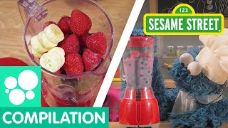 Sesame Street: Fruit Snack Recipes | Cookie Monster's Foodie Truck Compilation