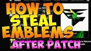 how to steal emblems on bo2 patch 1 19