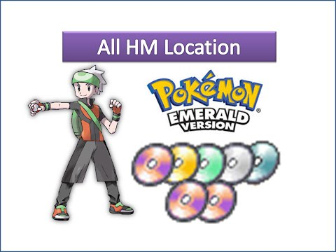 Pokemon Emerald - All HM Locations