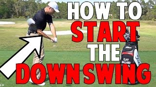 How to Start the Downswing and Get into the Slot