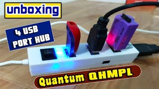 Quantum qhmpl 4 Port USB Hub Unboxing amp Review_129 Rupees Only