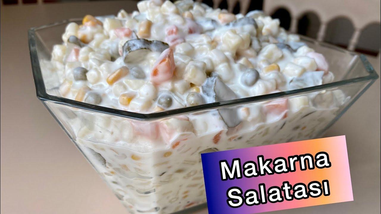 5 DAKİKADA HAZIR OLAN LEZZETLİ MAKARNA SALATASI🙌🏻Makarna Salatası Nasıl Yapılır?|Amerikan Salatası