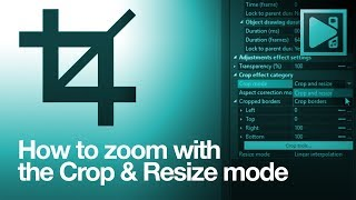 How to zoom iฑ on a video using VSDC advanced cropping effect