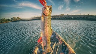 Kayak Fishing for Redfin and Rainbow Trout | Crusoe Reservoir Bendigo
