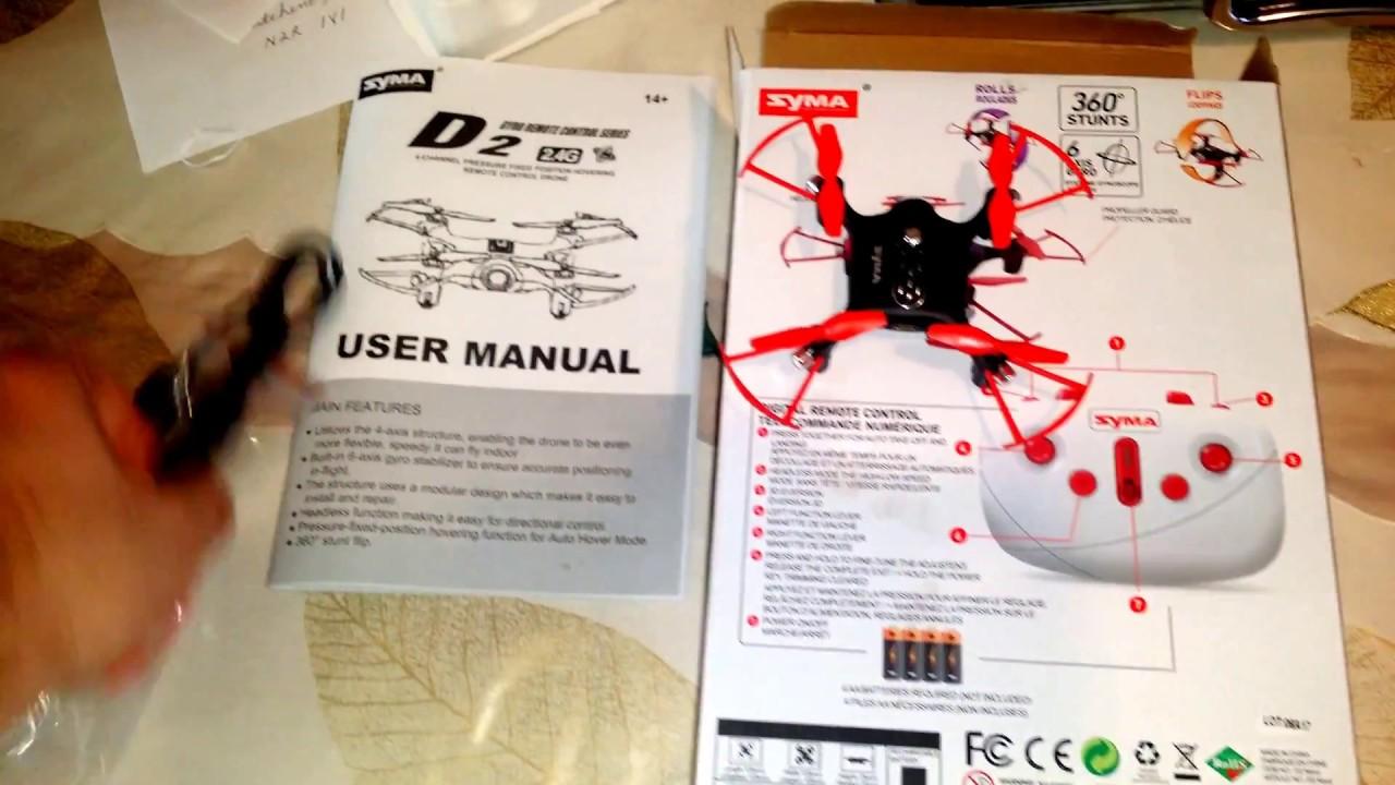 $19 99 Syma D2 quad copter/drone review