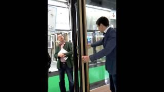 Дверь гармошка Unilux(Теплая складная алюмодеревянная дверь