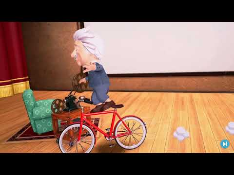 Human Heroes Einstein On Time: Albert Einstein Riding A Bike! | Ad-Free Mobile Game For Kids