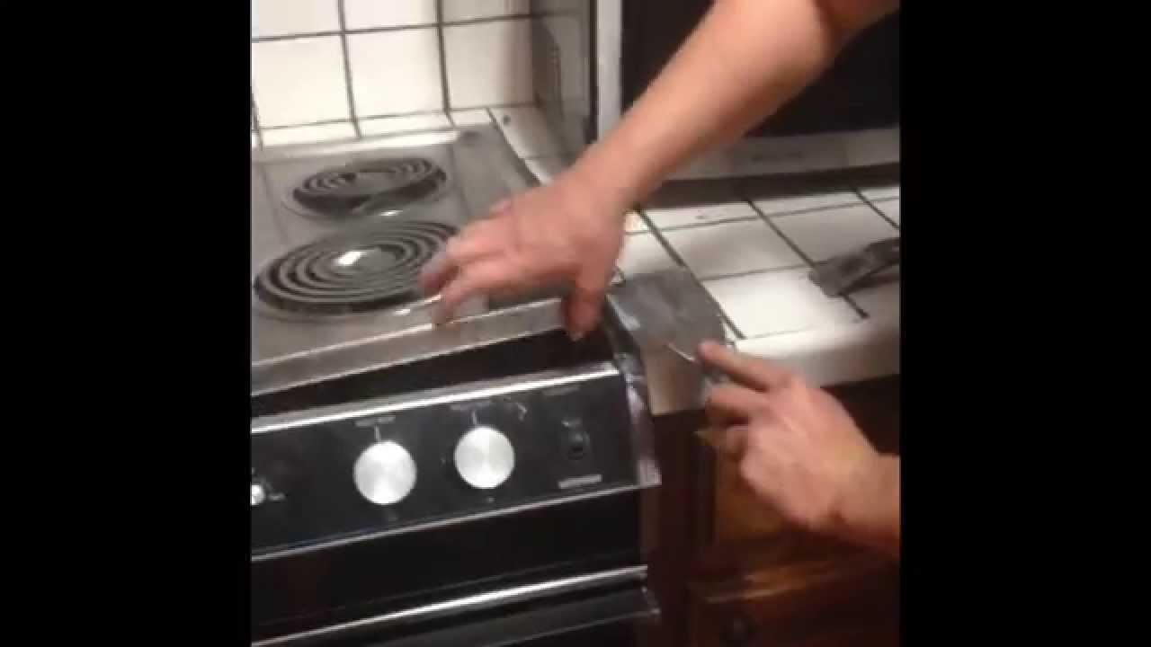 How To Remove Built In Drop In Stove Range (And Convert Cut For A  Freestanding Stove)   YouTube