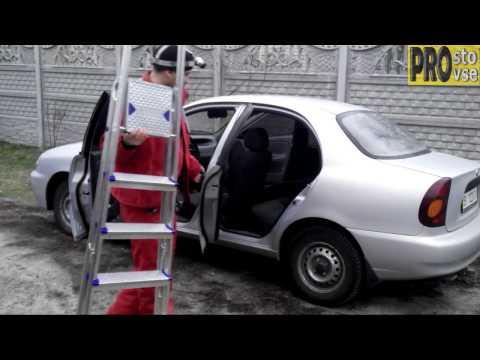 Как перевезти стремянку в авто