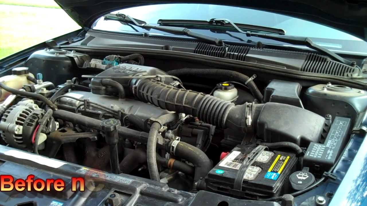 Cavalier 97 chevy cavalier specs : Before & After Short Ram Air Intake 2002 Chevy Cavalier - YouTube