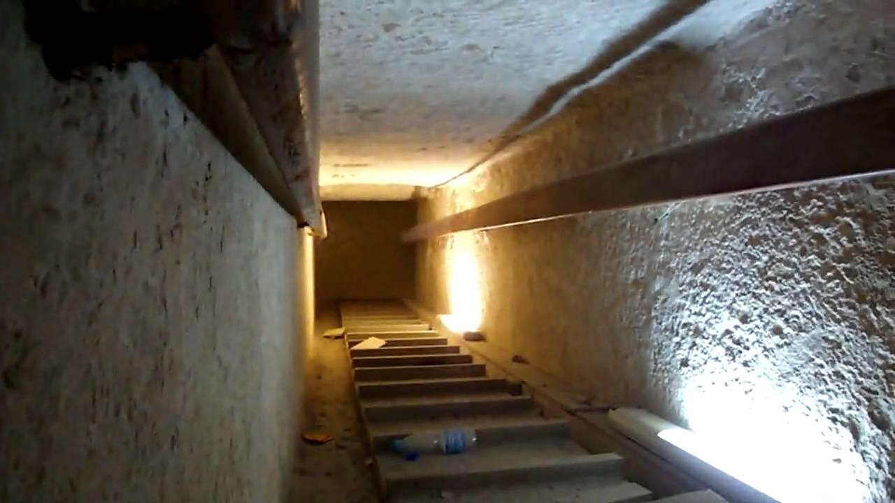 inside khafre chephren pyramid giza egypt youtube