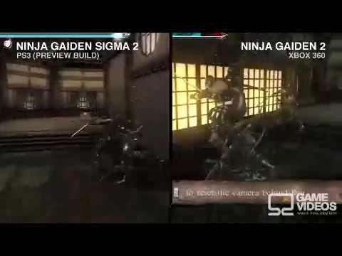 Ninja Gaiden Sigma 2 Ps3 Vs Ninja Gaiden 2 Xbox 360 Youtube