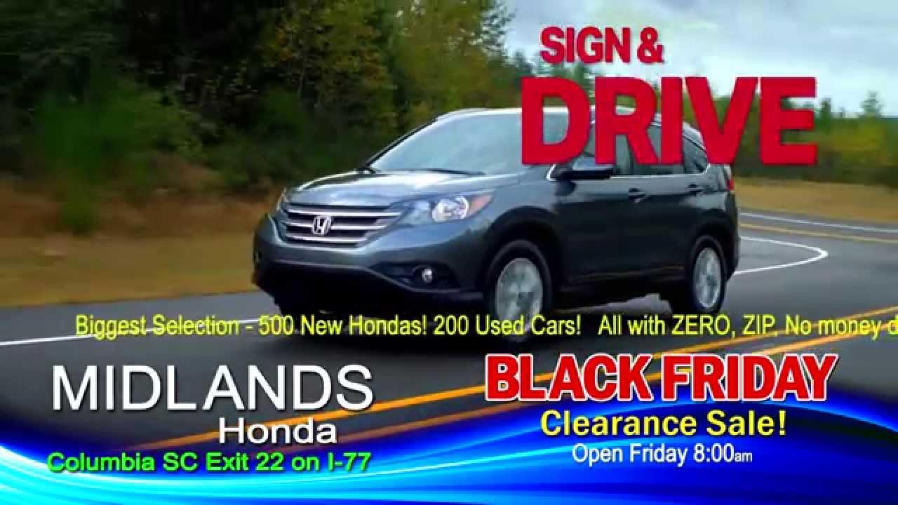 Midlands honda black friday clearance youtube for Columbia honda service