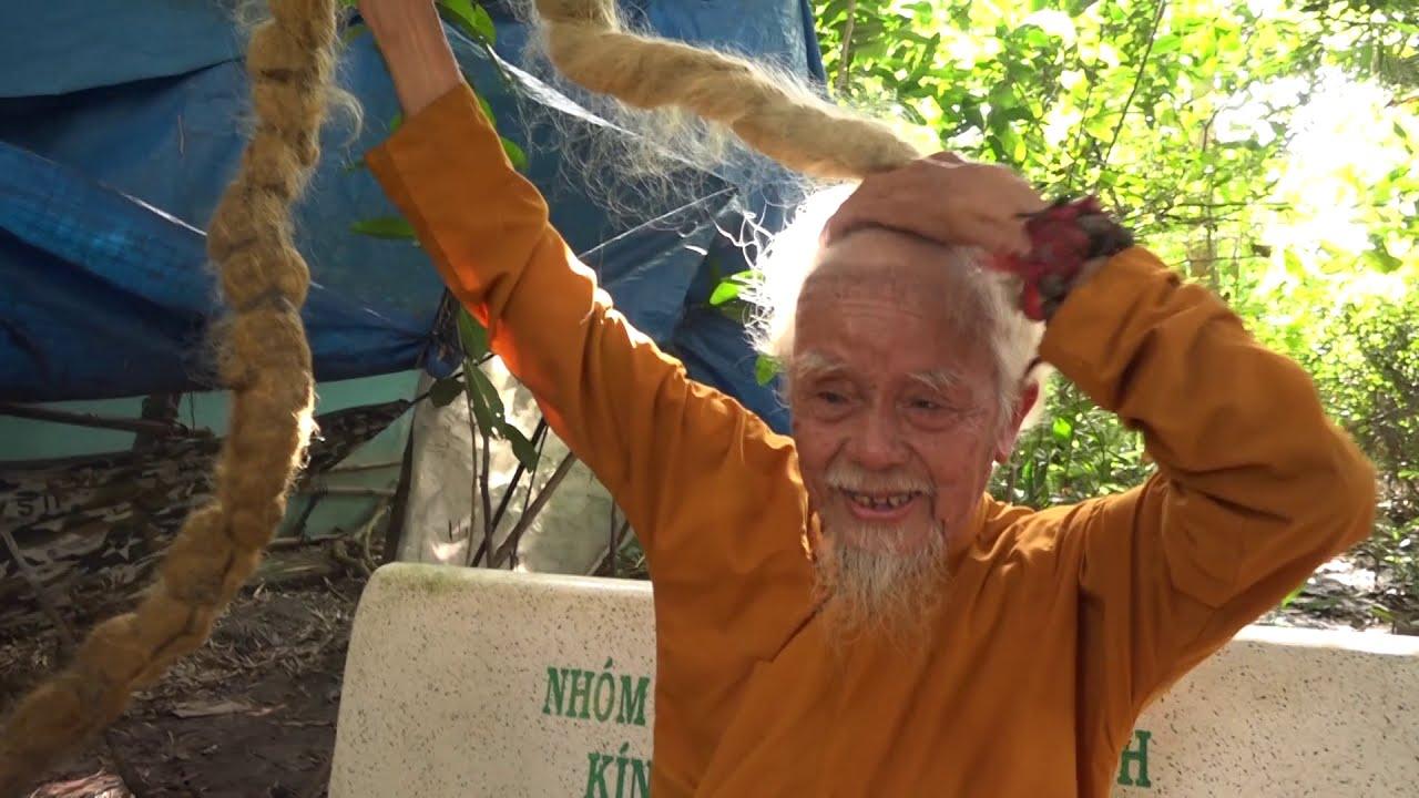 Chuyện Ly kỳ về Cụ ông 70 năm không cắt tóc ở Tiền Giang