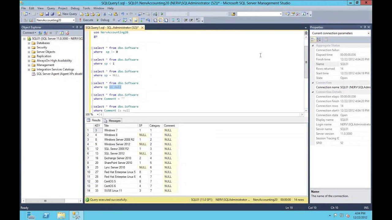 microsoft sql server 2012