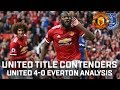 United Are Title Contenders! | Manchester United 4-0 Everton | Performance Analysis