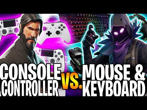 CONSOLE PRO TRIES PLAYING WITH MOUSE AND KEYBOARD! | Fortnite Console Controller Vs Mouse & Keyboard