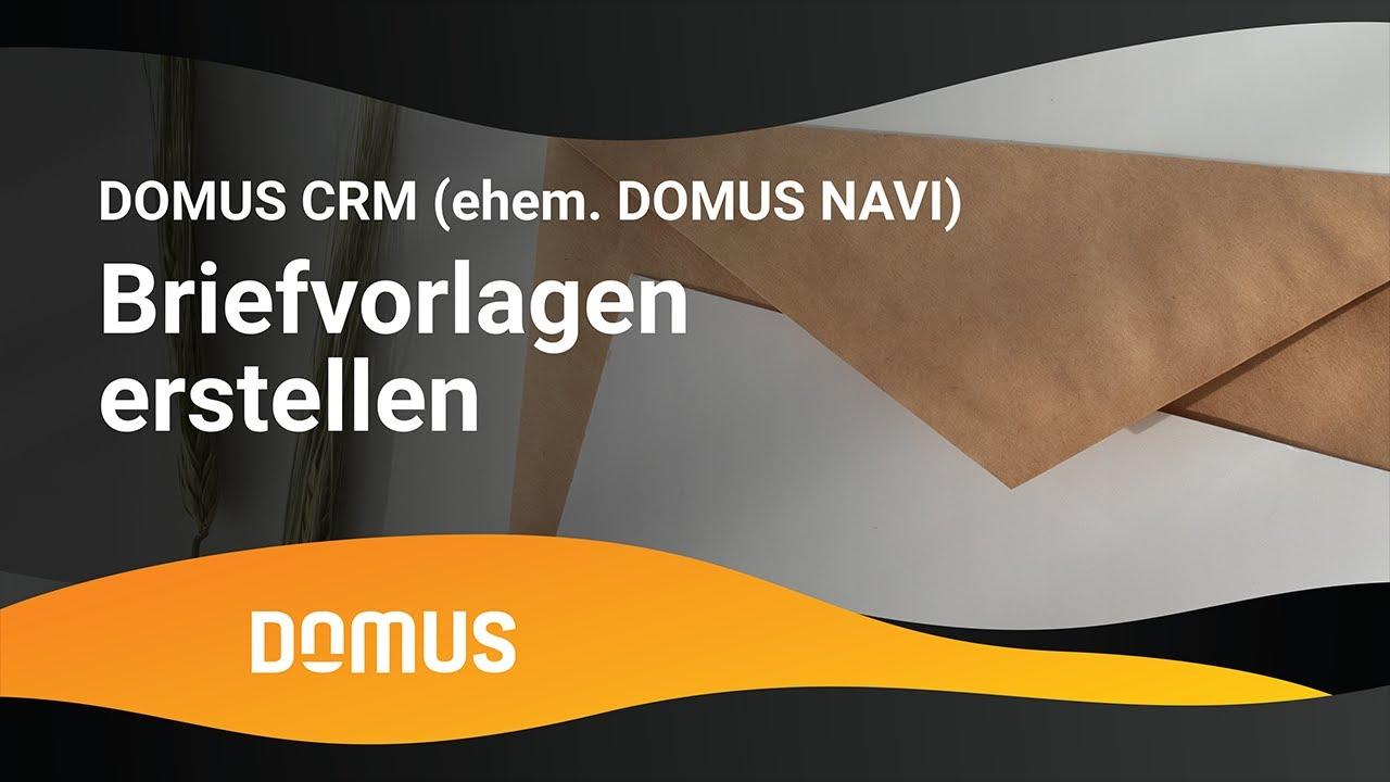 Domus Navi Briefvorlagen Erstellen Youtube